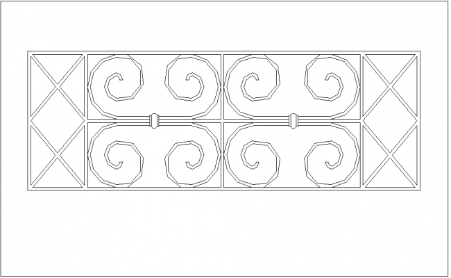 Design of grill view with circular shape
