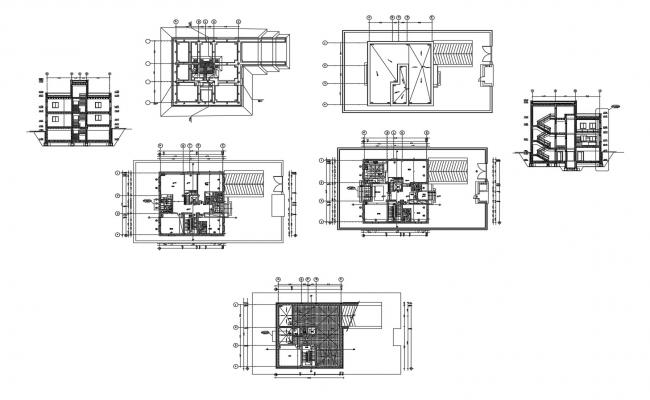 Home Design Plan In DWG File