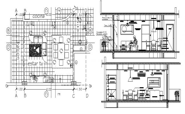 Design of house in dwg file