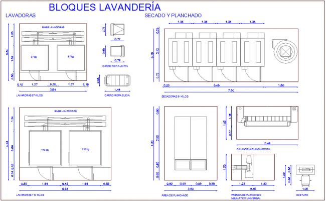 Design of laundry for hospital dwg file