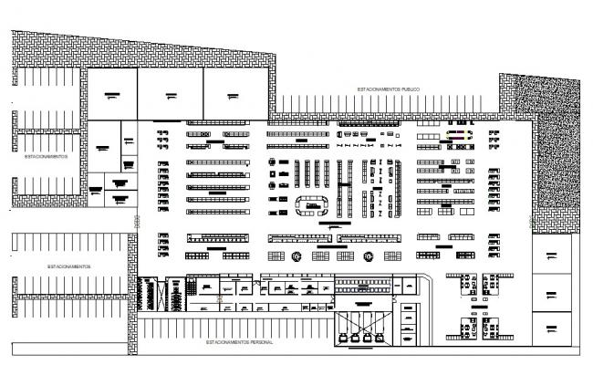 Shopping mall design plan in DWG file