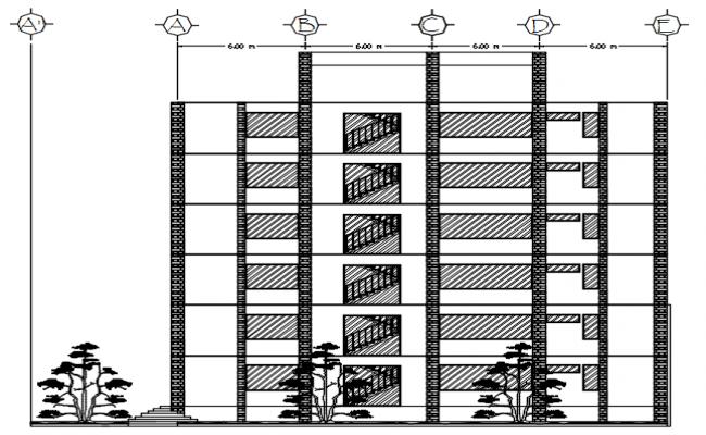 Design of multistorey building in AutoCAD