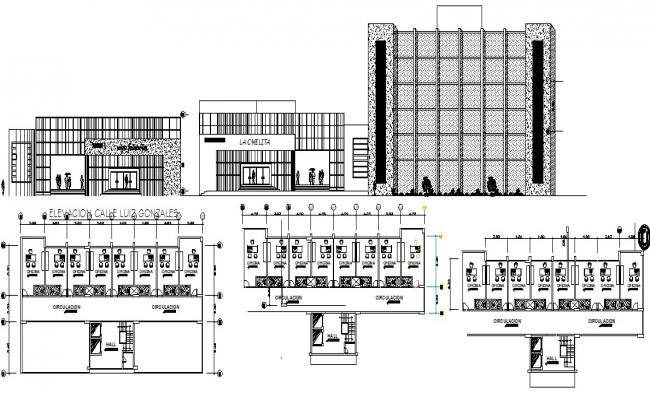 Design of shopping center in autocad