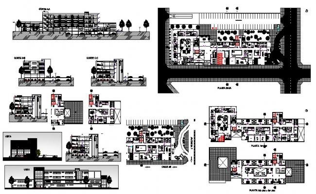 Hospital Building Drawing In AutoCAD File