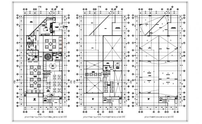 Restaurant Floor Plan In DWG File