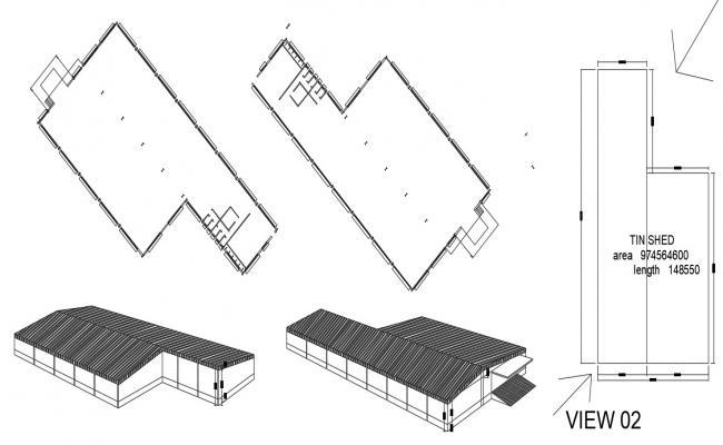 Warehouse design in AutoCAD file