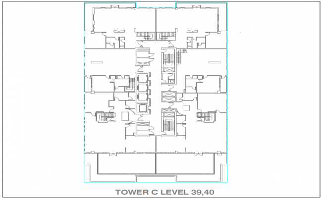 Design of tower with level 39 and 40