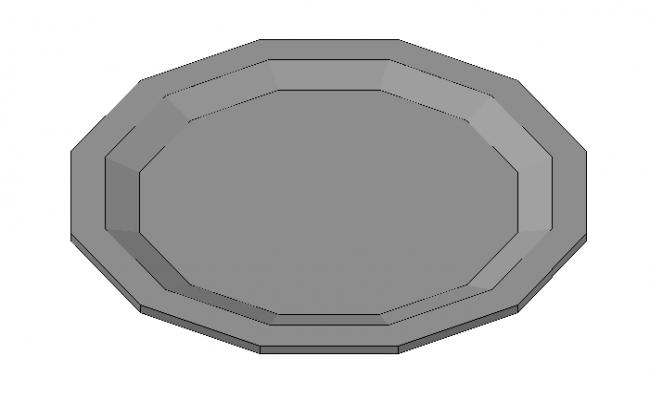 Designer  dining plate 3d