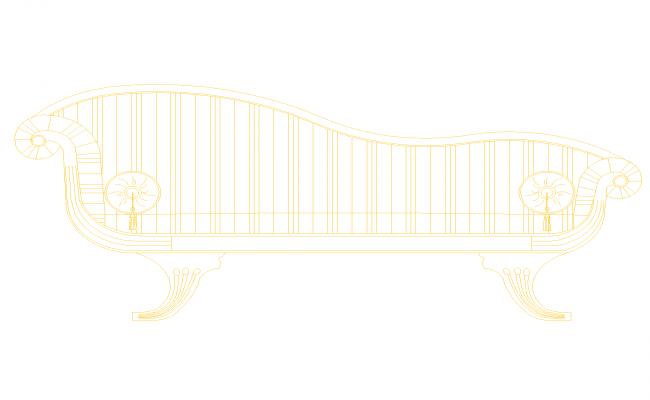 l shaped sofa plan In DWG File