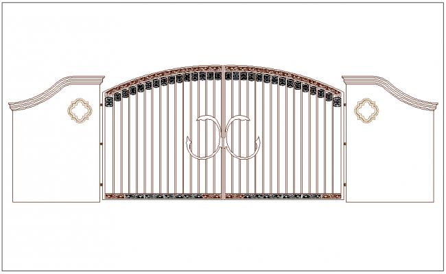 Designer view of forged door