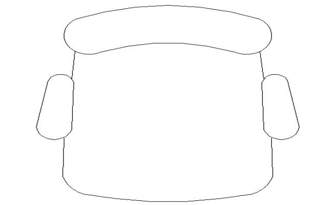 Desk chair common cad design block dwg file