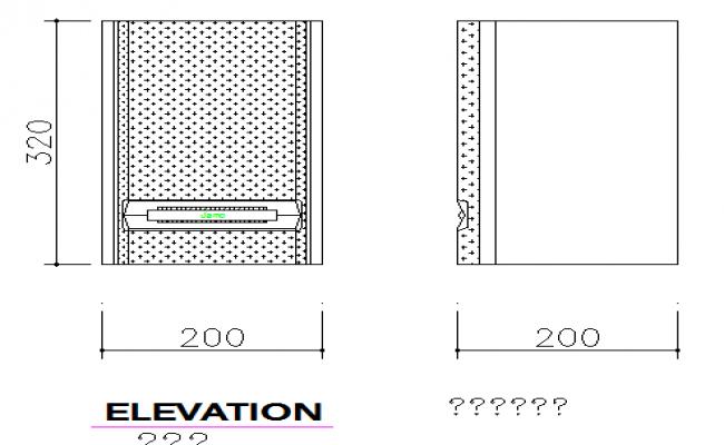 Desk mini speaker cad block design dwg file