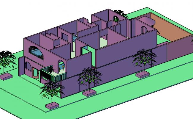 Detached house 3 D plan detail