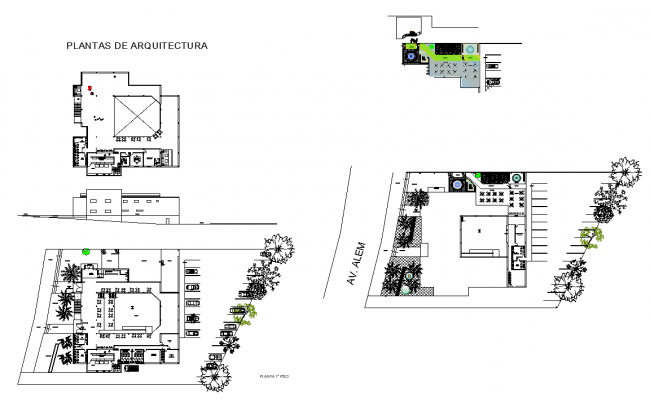 Detail 2d view of Hotel building detail plan autocad file