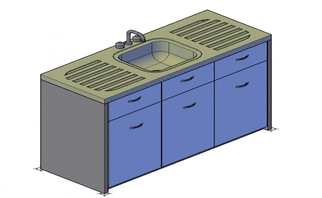 Detail 3d model of Sanitary Washbasin autocad file