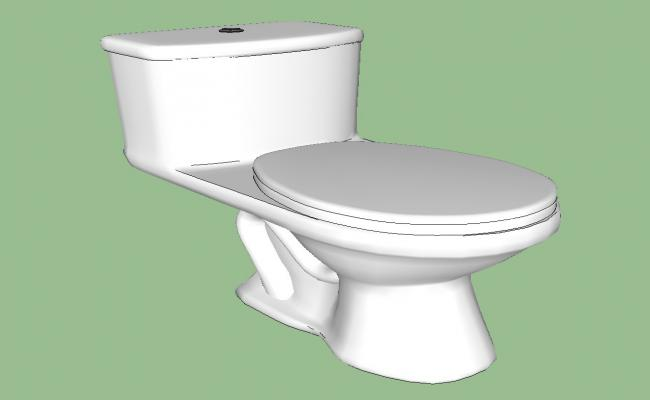 Detail 3d model of sanitary blocks toilet layout sketch-up file