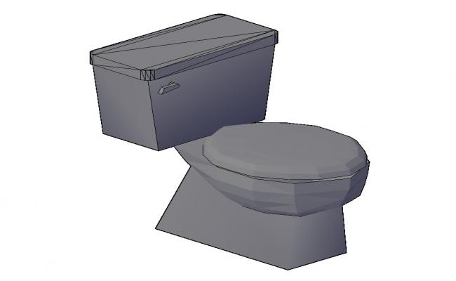 Detail 3d model of sanitary toilet layout CAD structure autocad file