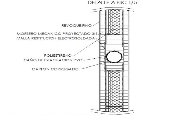 Detail A ESC section dwg file