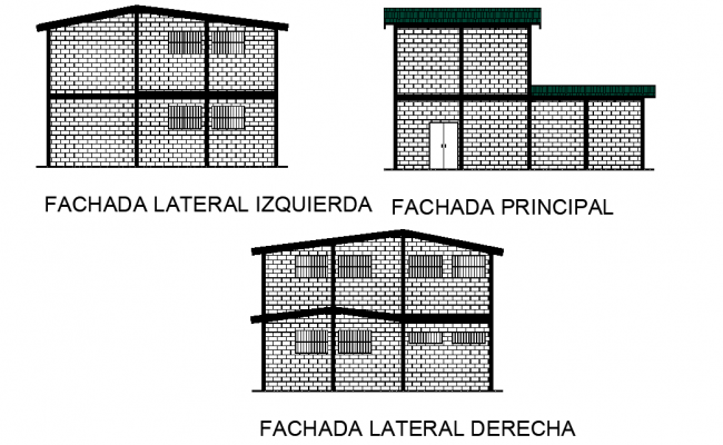 Detail Elevation community house plan detail dwg file