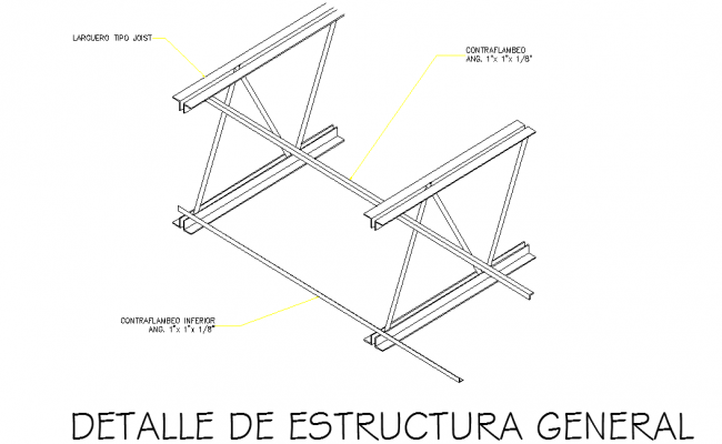 Detail Of General Structure autocad file