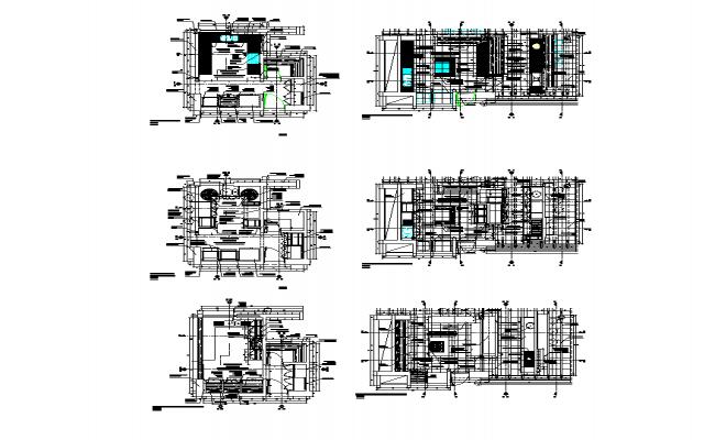Detail club housing building 2d view layout plan