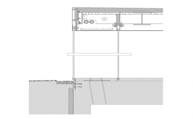 Detail constructive sectional structure 2d view layout file