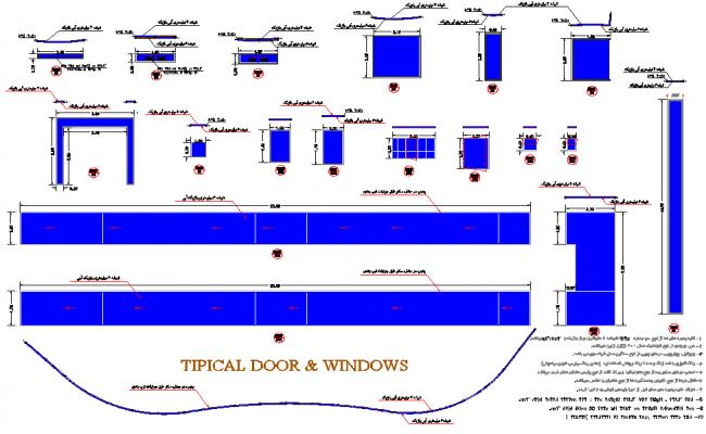Detail door and window plan detail dwg file