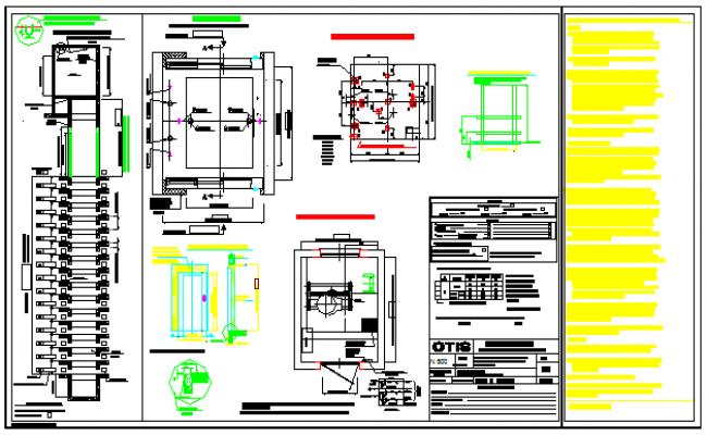 Detail drawing of elevator design drawing for Elevator plan drawing