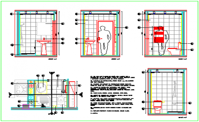 Detail drawing of WC design drawing