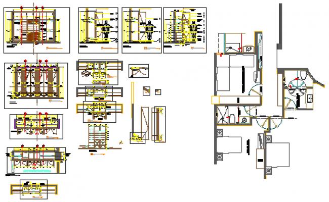 Detail drawing of closet design