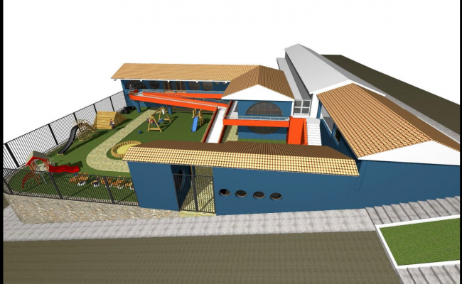 Detail drawing of educational institute.