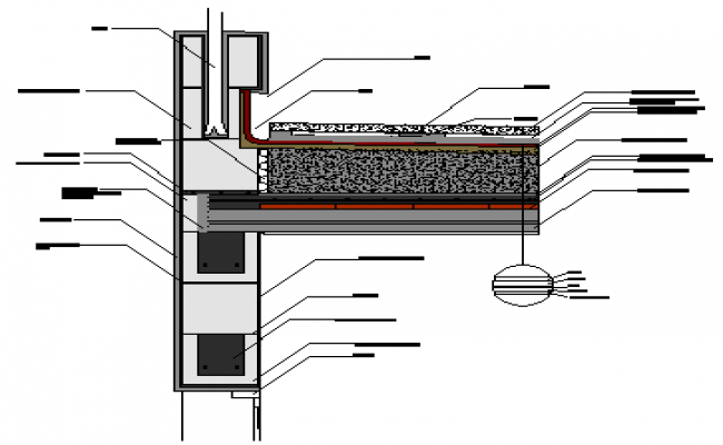 Detail drawing of low slope cover design drawing