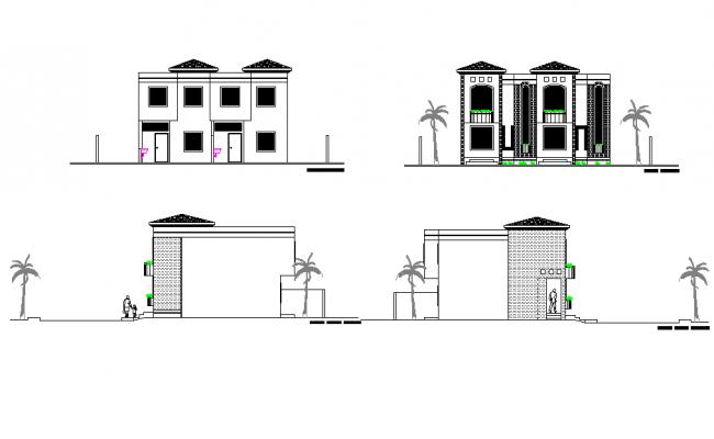 Detail elevation house plan detail dwg file