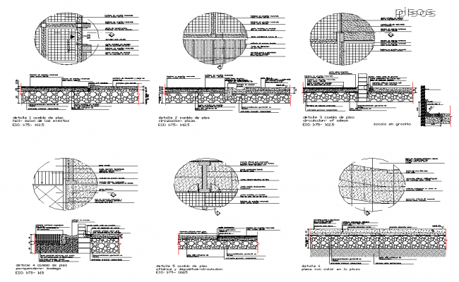 Detail floor structure detail section 2d view layout file
