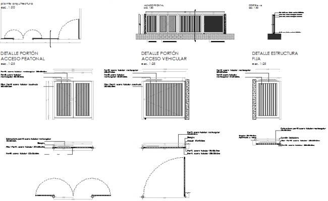 Door Gate Design In DWG File