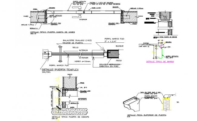 Detail in Typical door dwg file