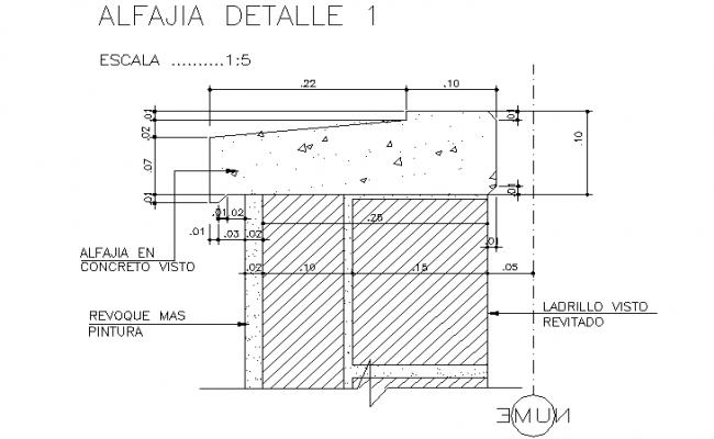 Detail in concert tank dwg file
