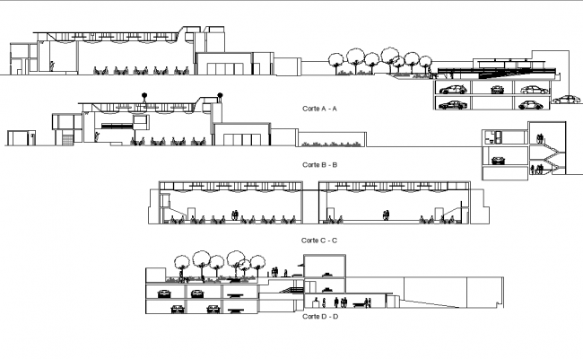Detail in section plan dwg file