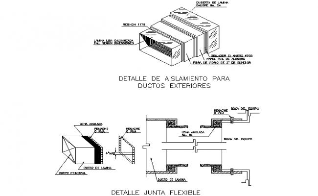 Detail joint flexible dwg file