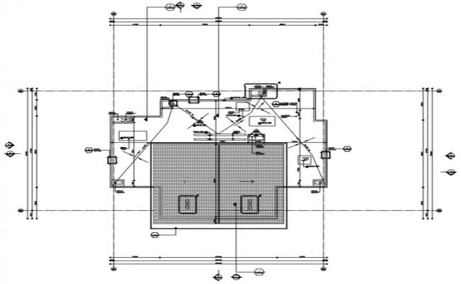 Detail of  terrace floor plan of a building