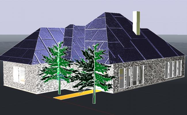 Detail of 3 D home plan detail