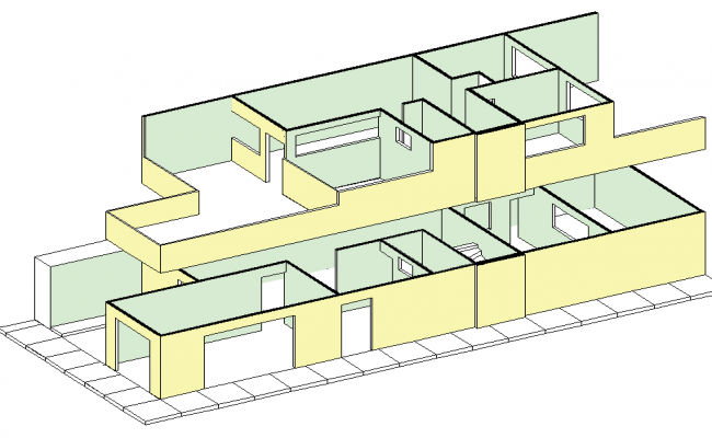 Detail of 3 d house plan layout file
