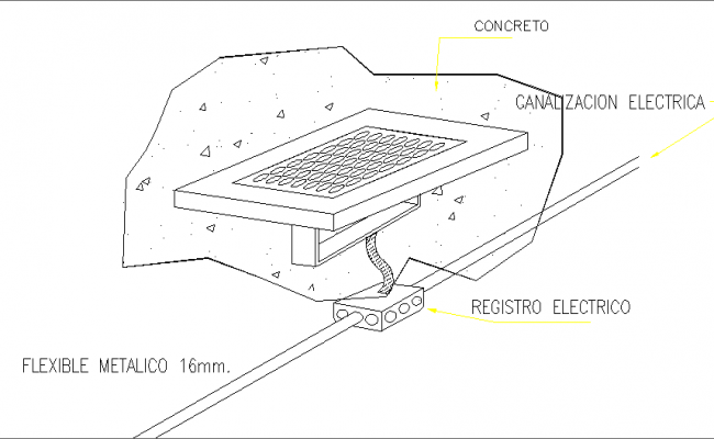 Detail of Compact LED Luminary dwg file