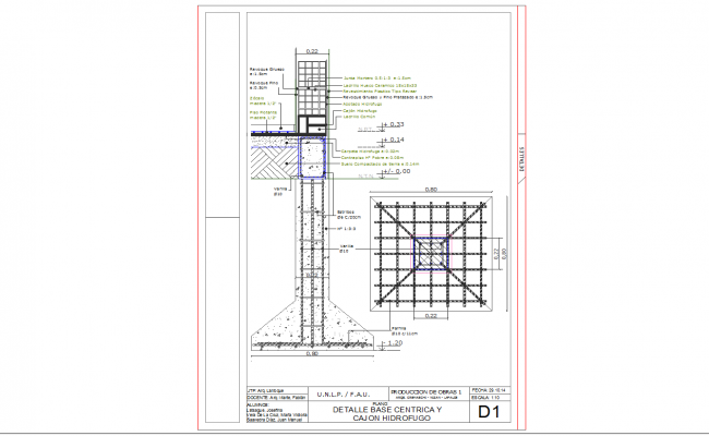 Detail of base floors wall cad files