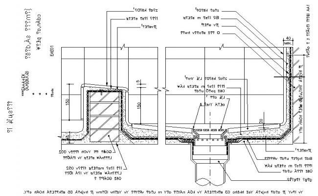 Detail of bath dwg file