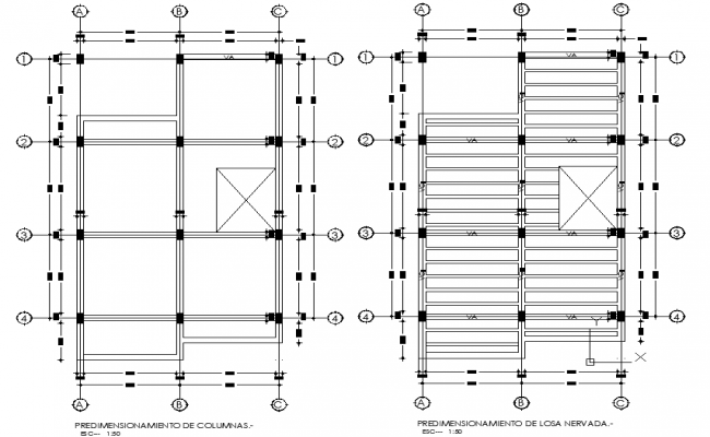 Detail of beam plan house dwg file
