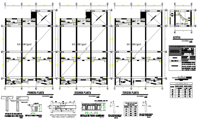 Detail of beam plan layout file