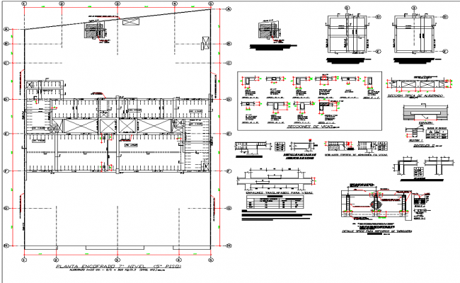 Detail of column and beam layout file