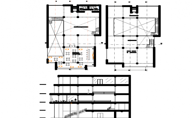 Detail of commercial building plan detail dwg file.