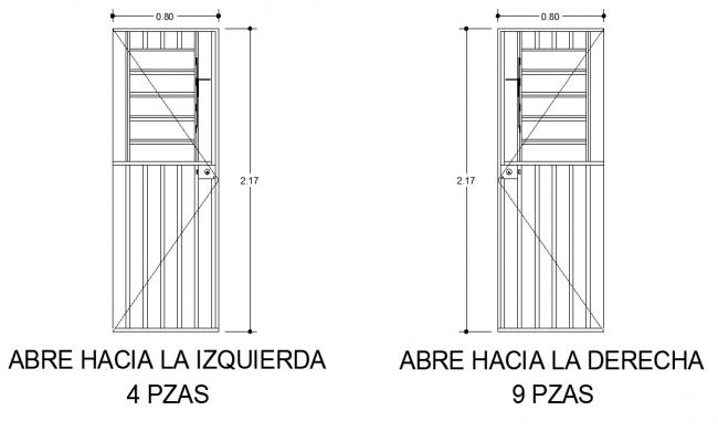 Detail of door elevation dwg file